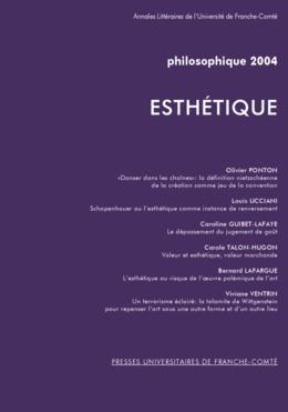 7 | 2004 - Esthétique - Philosophique