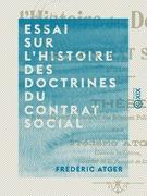 Essai sur l'histoire des doctrines du contrat social