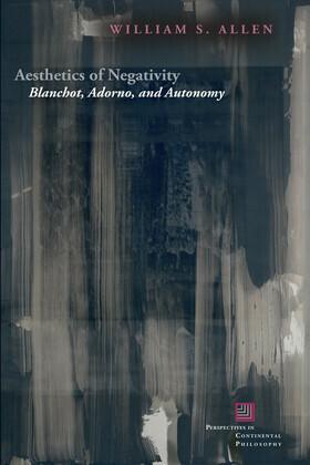 Aesthetics of Negativity: Blanchot, Adorno, and Autonomy