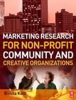 Marketing Research for Non-profit, Community and Creative Organizations