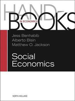 Handbook of Social Economics SET: 1A, 1B: 1A, 1B