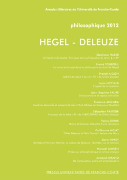 15 | 2012 - Hegel - Deleuze - Philosophique