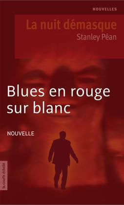 Blues en rouge sur blanc