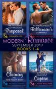 Modern Romance September 2017 Books 1 - 4 (Mills & Boon e-Book Collections)
