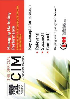 CIM Revision Cards: Managing Marketing Performance