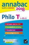 Annales Annabac 2018 Philosophie Tle L, ES, S: sujets et corrigés du bac Terminale séries générales