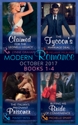 Modern Romance Collection: October 2017 Books 1 - 4 (Mills & Boon e-Book Collections) (Wedlocked!, Book 88)