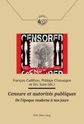 Censure et autorités publiques