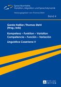 Kompetenz – Funktion – Variation / Competencia – Función – Variación