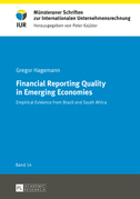 Financial Reporting Quality in Emerging Economies