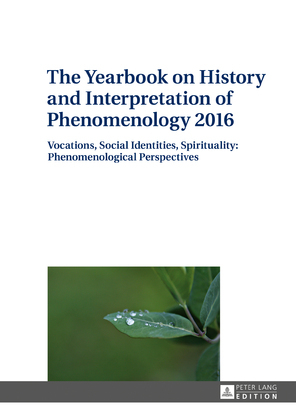 The Yearbook on History and Interpretation of Phenomenology 2016