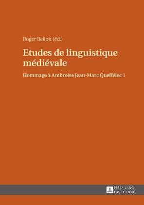 Etudes de linguistique médiévale