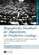 Biographisches Handbuch der Abgeordneten des Preußischen Landtags
