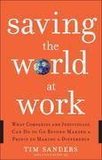 Saving the World at Work: What Companies and Individuals Can Do to Go Beyond Making a Profit to Making aDifference
