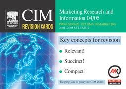 CIM Revision Cards: Marketing Research and Information 04/05