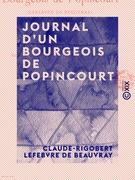 Journal d'un bourgeois de Popincourt