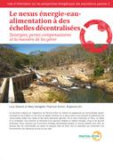 Le nexus énergie-eau-alimentation à des échelles décentralisées