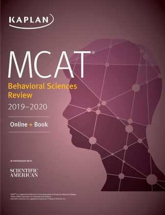 MCAT Behavioral Sciences Review 2019-2020