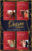 Desire Collection: January Books 1 - 4: Taming the Texan / Little Secrets: Unexpectedly Pregnant / The Rancher's Baby / Claiming His Secret Heir (Mills & Boon e-Book Collections)