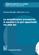 Le semplificazioni procedurali, le sanzioni e le pari opportunità nel Jobs Act