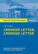 Crooked Letter, Crooked Letter von Tom Franklin. Königs Erläuterungen Spezial.