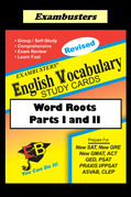 Exambusters English Vocabulary Study Cards: Word Roots Parts I and II