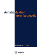 Annales du droit luxembourgeois – Volume 26 – 2016