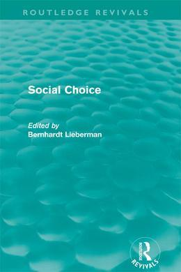 Social Choice (Routledge Revivals)
