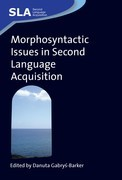 Morphosyntactic Issues in Second Language Acquisition