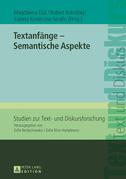 Textanfaenge – Semantische Aspekte