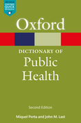 A Dictionary of Public Health