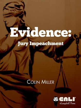 Evidence: jury impeachment