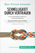 Schnelligkeit durch Vertrauen von Stephen M. R. Covey und Rebecca R. Merrill (Zusammenfassung & Analyse)
