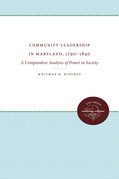 Community Leadership in Maryland, 1790-1840