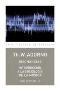 Disonancias e Introducción a la sociología de la música