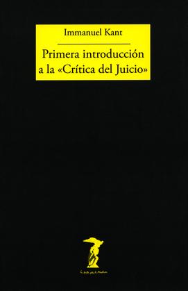 """Primera introducción a la """"Crítica del Juicio"""""""