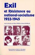 Exil et résistance au national-socialisme (1933-1945)