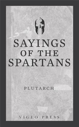 Sayings of the Spartans