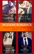 Modern Romance September 2018 Books 5-8: The Heir the Prince Secures / Bound by Their Scandalous Baby / The King's Captive Virgin / A Ring to Take His Revenge