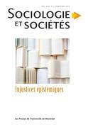 Sociologie et sociétés. Vol. 49 No. 1, Printemps 2017