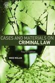 Cases & Materials on Criminal Law: Fourth Edition