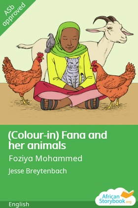 (Colour-in) Fana and her animals