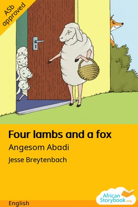 Four Lambs and a Fox