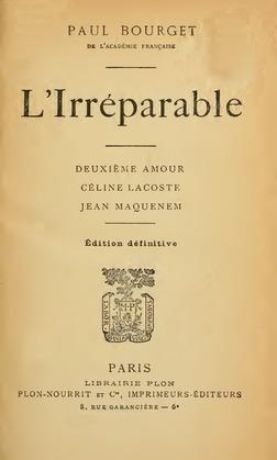 L'Irréparable