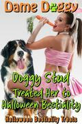 Doggy Stud Treated Her to Halloween Bestiality: Halloween Bestiality Treats