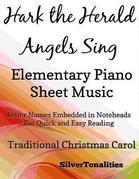 Hark the Herald Angels Sing Elementary Piano Sheet Music