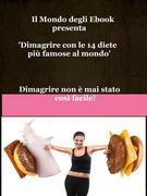 Il Mondo degli Ebook presenta 'Dimagrire con le 14 diete più famose al mondo'