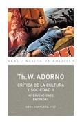 Crítica de la Cultura y la sociedad II