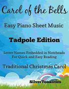 Carol of the Bells Easy Piano Sheet Music Tadpole Edition