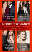 Modern Romance January Books 1-4: The Spaniard's Untouched Bride (Brides of Innocence) / The Secret Kept from the Italian / Claimed for the Billionaire's Convenience / My Bought Virgin Wife